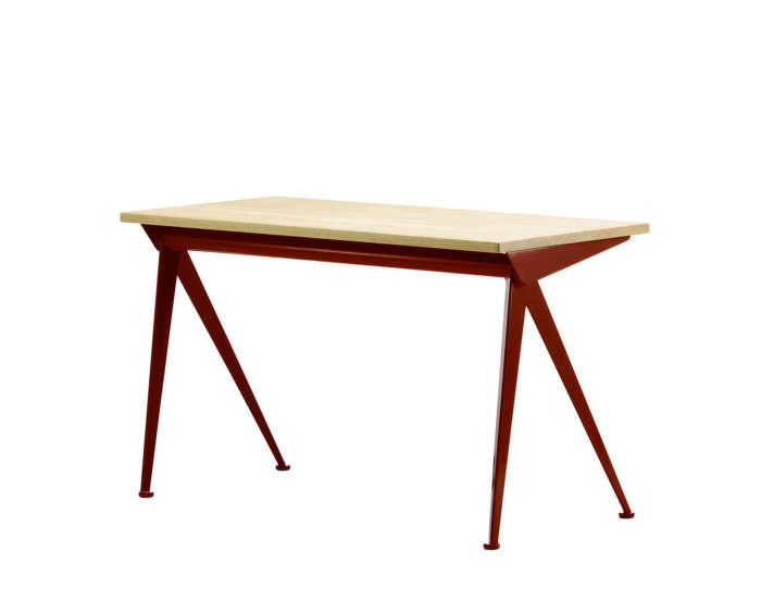 Compas-Direction-natural-oak-table-top-Japanese-red-base