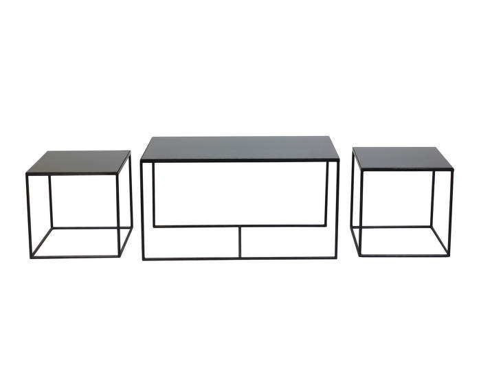 Trinity charcoal coffee table set