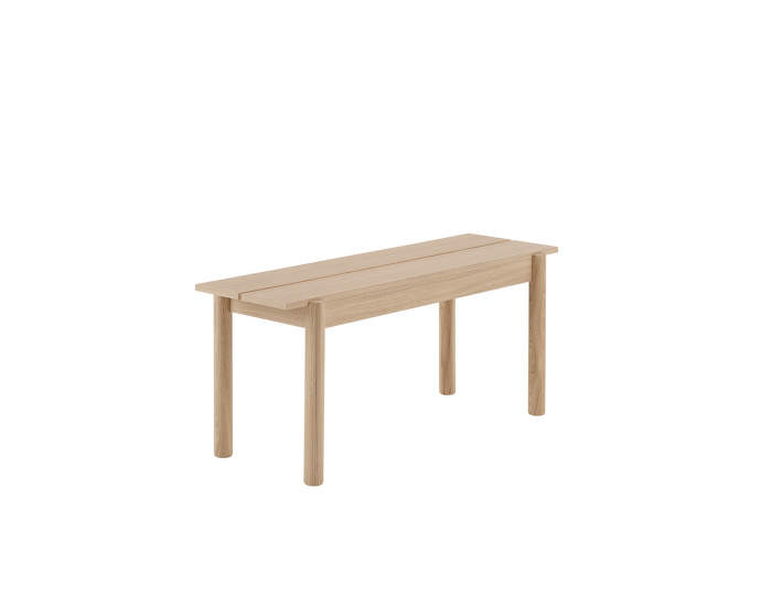 Linear wood bench, 110 cm