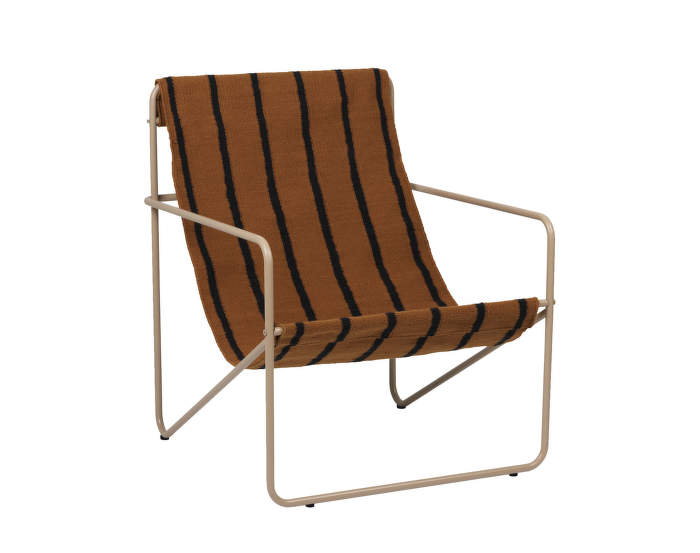 Desert Lounge Chair, cashmere/stripes