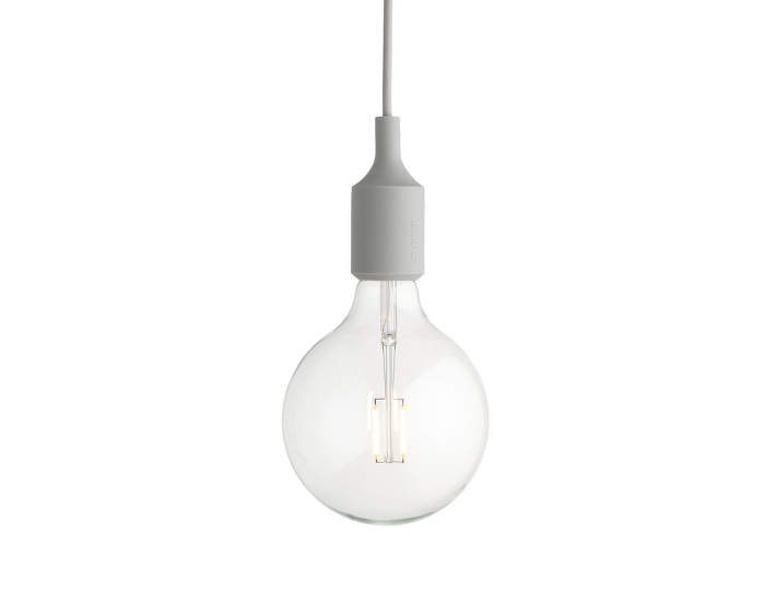 Závěsná LED lampa Muuto E27, light grey