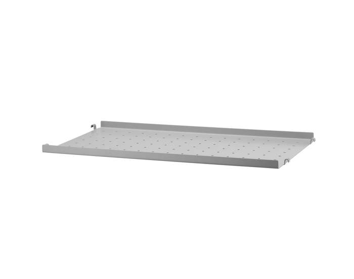 Police String Metal Shelf Low Edge 58 x 30, grey