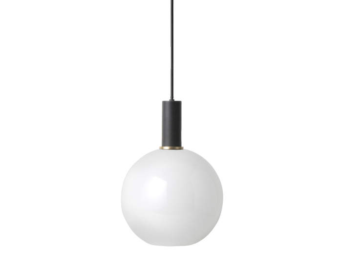 Lampa Collect Low, black/opal sphere