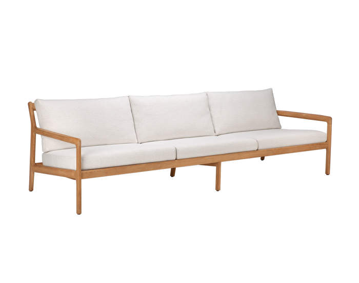 Outdoor sofa Jack, 265 cm, teak / Off White