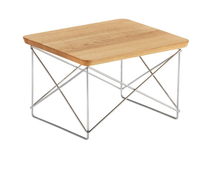 Occasional Table LTR Natural Oak, chrome