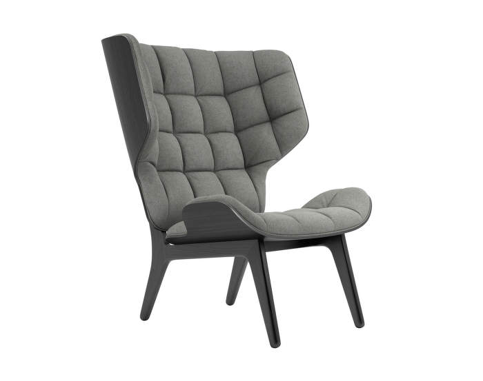 Mammoth Chair, black oak / Wool - Light Grey 1000