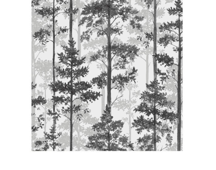 Tapeta Pine, white/black