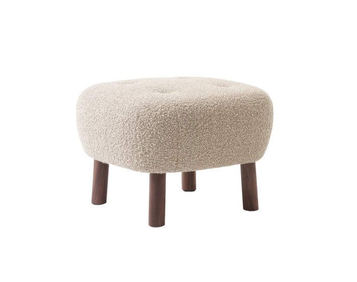 Pouf Little Petra ATD1, walnut / Karakorum