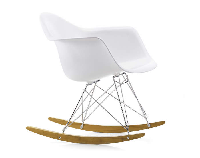 Houpací křeslo Vitra Eames Chair RAR, golden maple