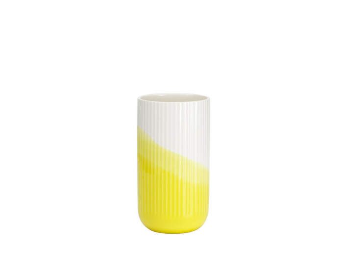 Herringbone-vase-ribbed-yellow