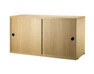 Komoda String Cabinet With Sliding Doors 78 x 30, oak