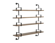 Police Démon Shelf 2, 155cm, 4 shelves, walnut