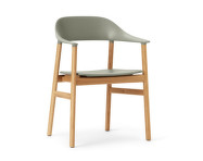 Židle Herit Armchair Oak, dusty green