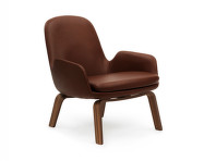 Křeslo Era Lounge, Walnut Tango Leather, nízké