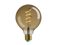Retro LED žárovka WattNott Whirly Wyatt 4W, Gold