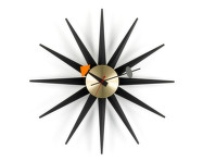 Hodiny Sunburst Clock, black/brass