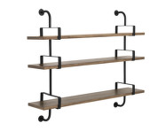 Police Démon Shelf 2, 155cm, 3 shelves, walnut