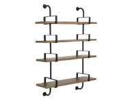 Police Démon Shelf 2, 95cm, 4 shelves, walnut