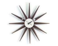 Hodiny Sunburst Clock, walnut