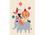 Plakát 50x70 Animal Party od OMM Design