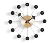 Hodiny Vitra Ball Clock, black/brass